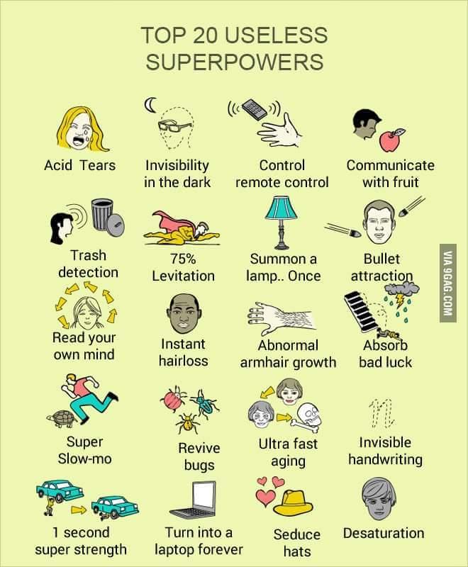 useless superpower trivia