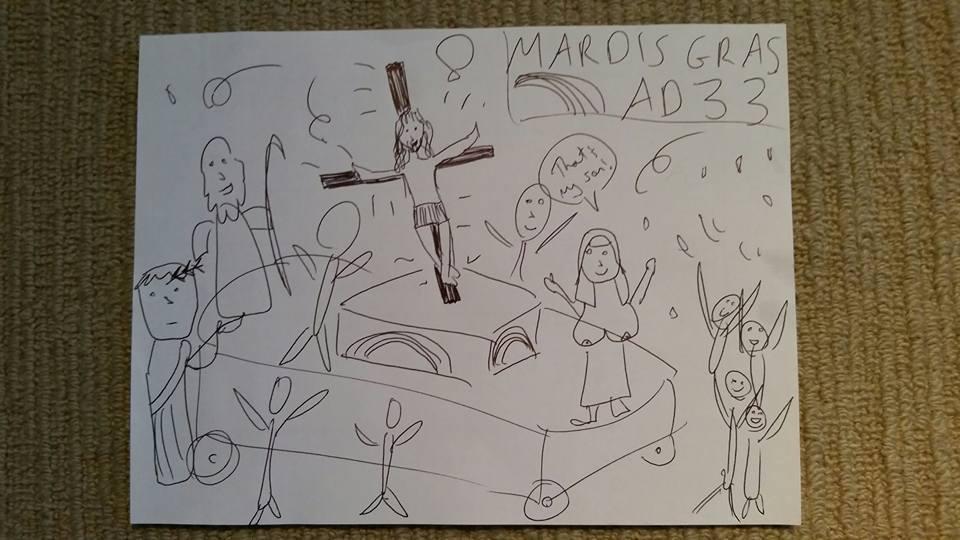 sparkly crucifix trivia
